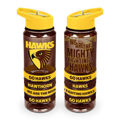 AFL TRITAN DRINK BOTTLE AND BANDS HAWTHORN HAWKS