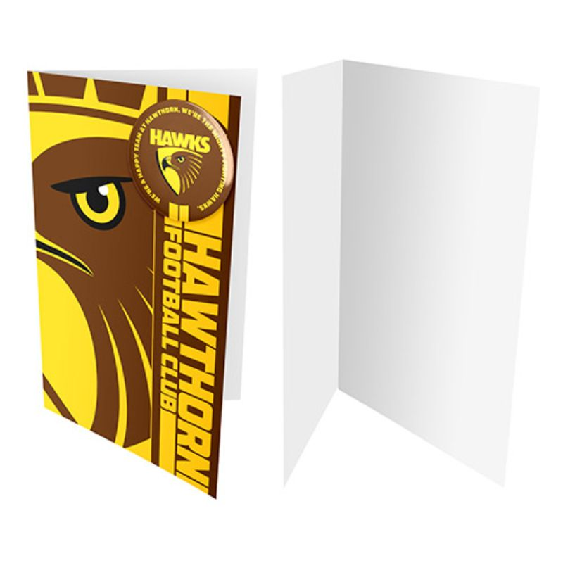 AFL BADGE CARD HAWTHORN HAWKS