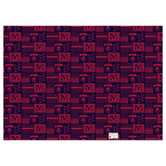 AFL WRAPPING PAPER MELBOURNE DEMONS