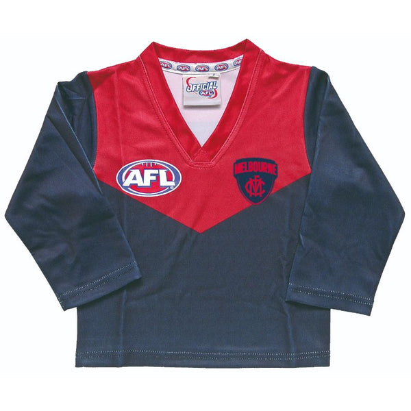 AFL REPLICA LONGSLEEVE TODDLER GUERNSEY MELBOURNE DEMONS
