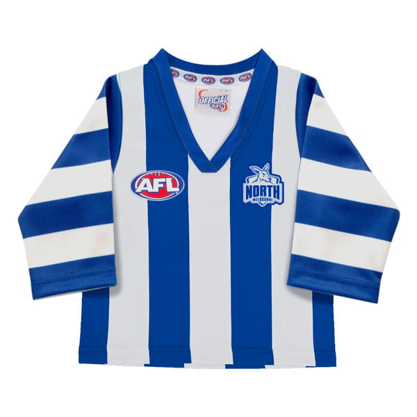 AFL REPLICA LONGSLEEVE TODDLER GUERNSEY NORTH MELBOURNE KANAGROOS