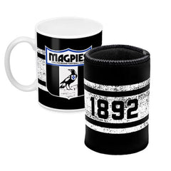 AFL MUG AND CAN COOLER COLLINGWOOD MAGPIES