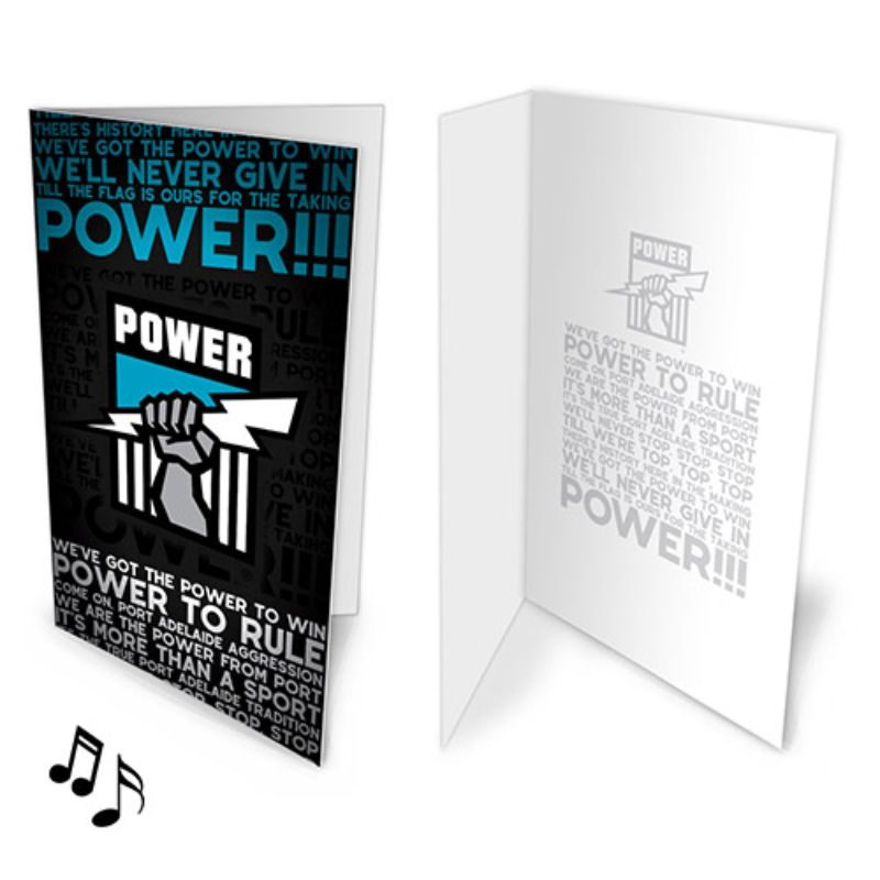 AFL MUSICAL CARD PORT ADELAIDE POWER