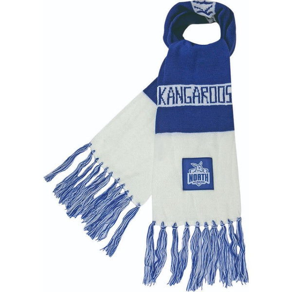 AFL BAR SCARF NORTH MELBOURNE KANGAROOS