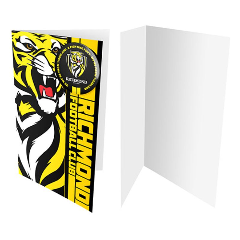 AFL BADGE CARD RICHMOND TIGERS