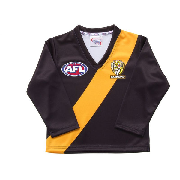 AFL REPLICA LONGSLEEVE TODDLER GUERNSEY RICHMOND TIGERS