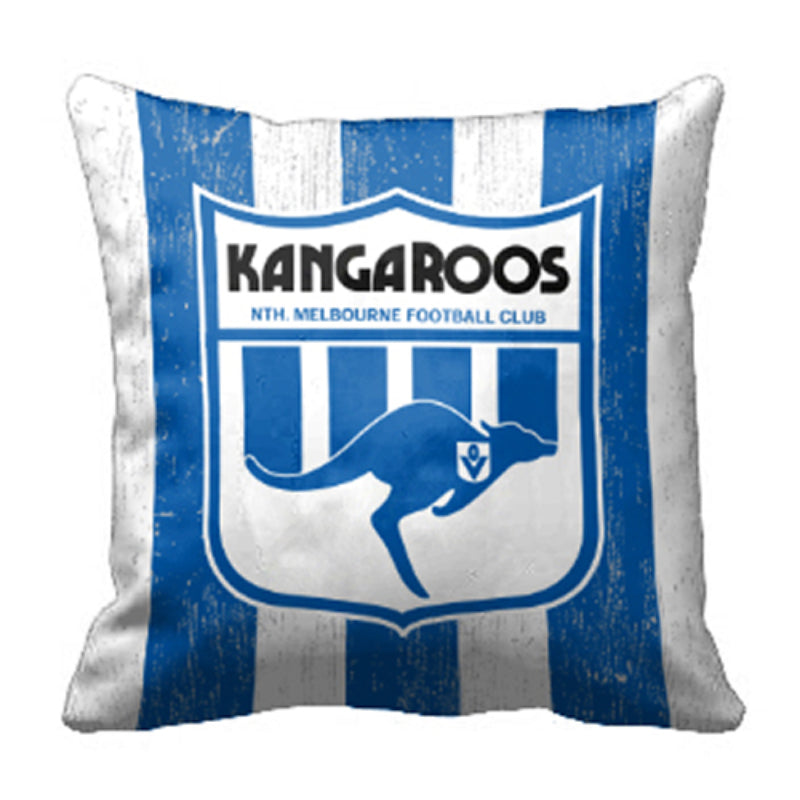 AFL 1ST 18 CUSHION NORTH MELBOURNE KANGAROOS