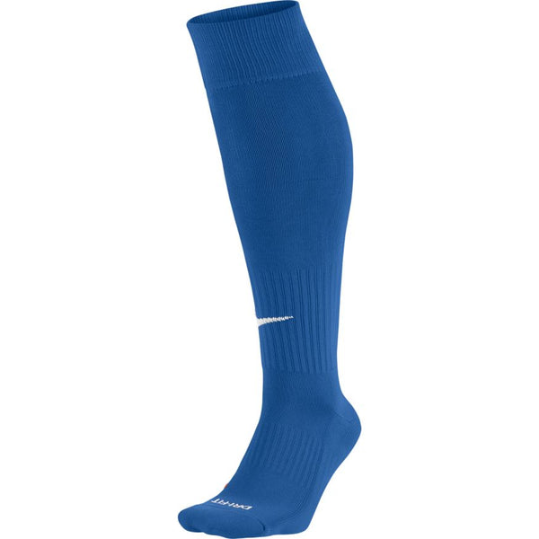NIKE ACADEMY OVER-THE-CALF VARSITY FOOTBALL SOCKS ROYAL/WHITE