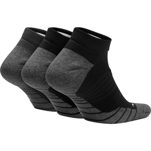 NIKE ADULT EVERYDAY MAX CUSHION NO SHOW SOCKS 3 PACK BLACK/ANTHRACITE/WHITE