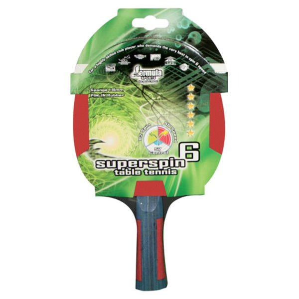 FORMULA SPORTS SUPERSPIN 6 STAR TABLE TENNIS BAT