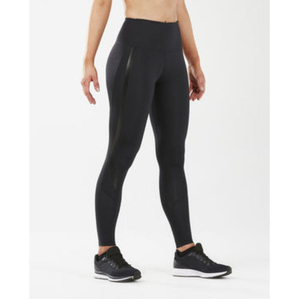 2XU WOMENS HI RISE COMPRESSION FULL LENGTH TIGHT BLACK NERO