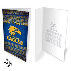 AFL MUSICAL CARD WEST COAST EAGLES