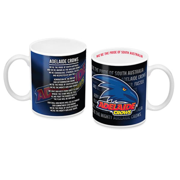 AFL TEAM SONG COFFEE MUG ADELAIDE CROWS