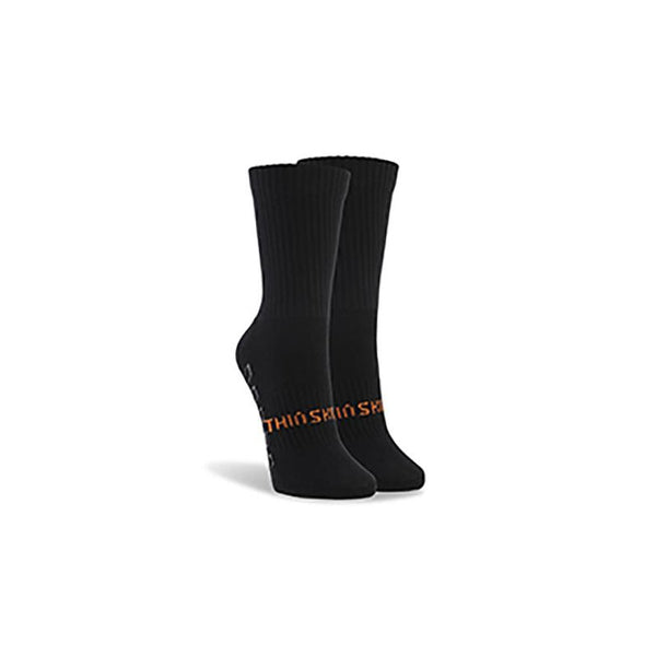 ThinSkins Short Football Socks - Black