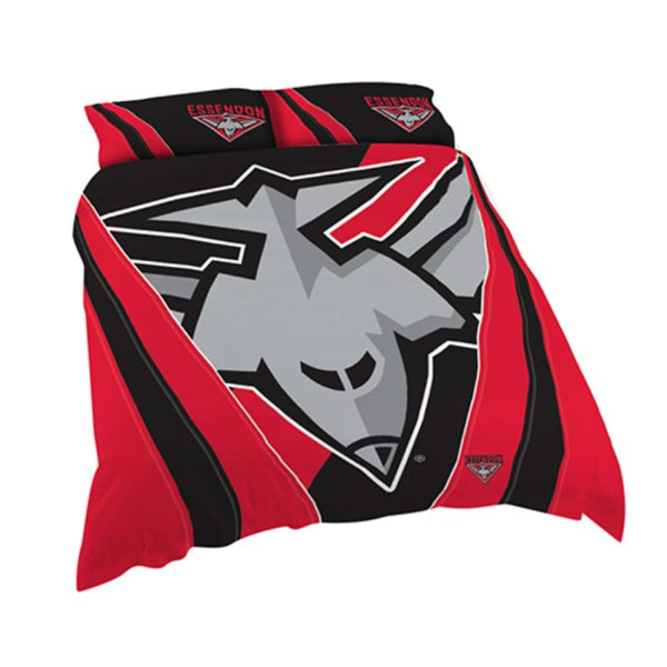 AFL QUILT COVER QUEEN ESSENDON BOMBERS