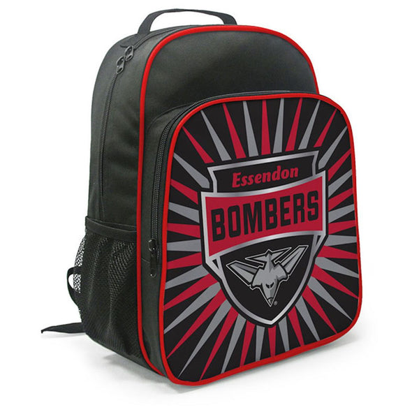BURLEY AFL ESSENDON BOMBERS KIDS SHIELD BACKPACK