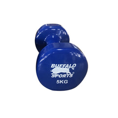 BUFFALO SPORTS 5KG PLASTIC COATED DUMBBELL