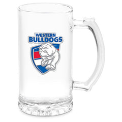 AFL STEIN WITH METAL BADGE WESTERN BULLDOGS