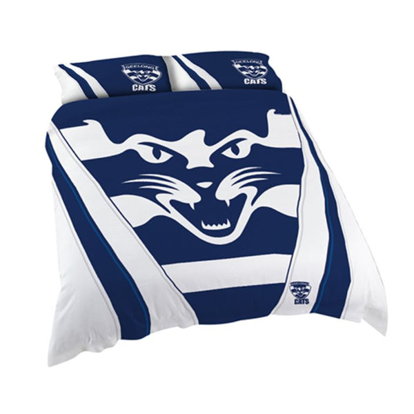 AFL QUILT COVER QUEEN GEELONG CATS