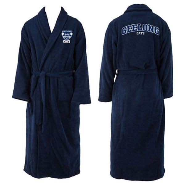 AFL MENS LONG SLEEVE ROBE GEELONG CATS