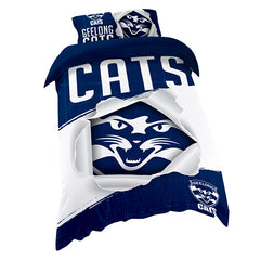 AFL QUILT COVER SINGLE GEELONG CATS