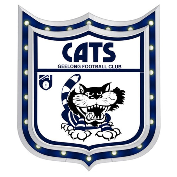 AFL 1ST 18 LIGHT-UP SIGN GEELONG CATS