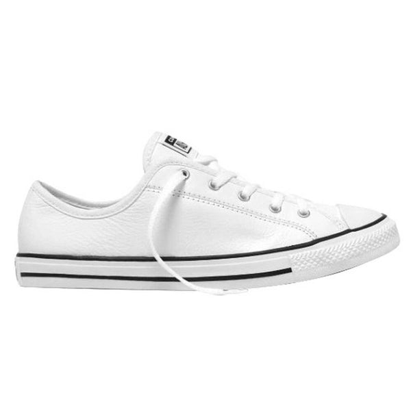 CONVERSE WOMENS CHUCK TAYLOR ALL STAR DAINTY LEATHER LOW TOP