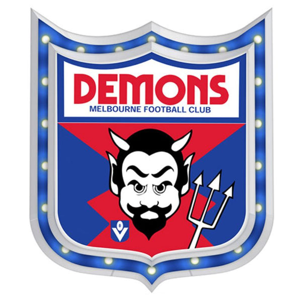 AFL 1ST 18 LIGHT-UP SIGN MELBOURNE DEMONS