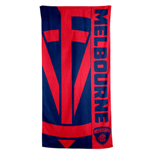AFL BEACH TOWEL MELBOURNE DEMONS
