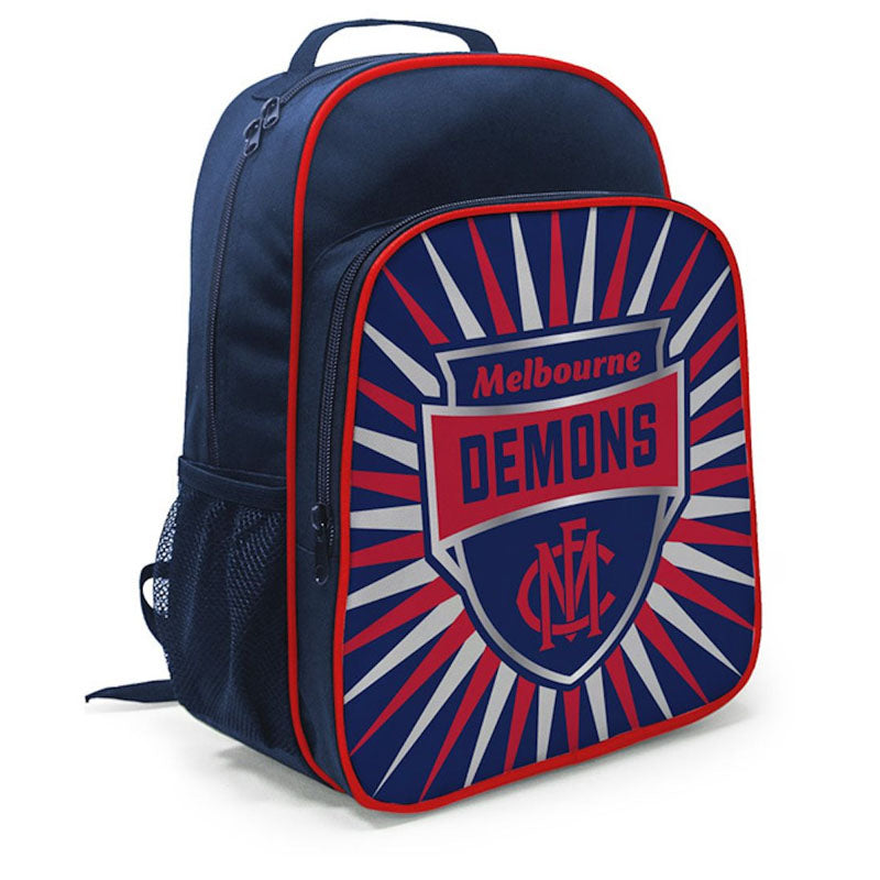 BURLEY AFL MELBOURNE DEMONS KIDS SHIELD BACKPACK