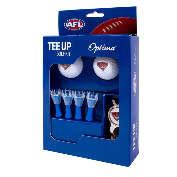 ESSENDON GOLF 2BALL TEE UP KIT GIFT PACK
