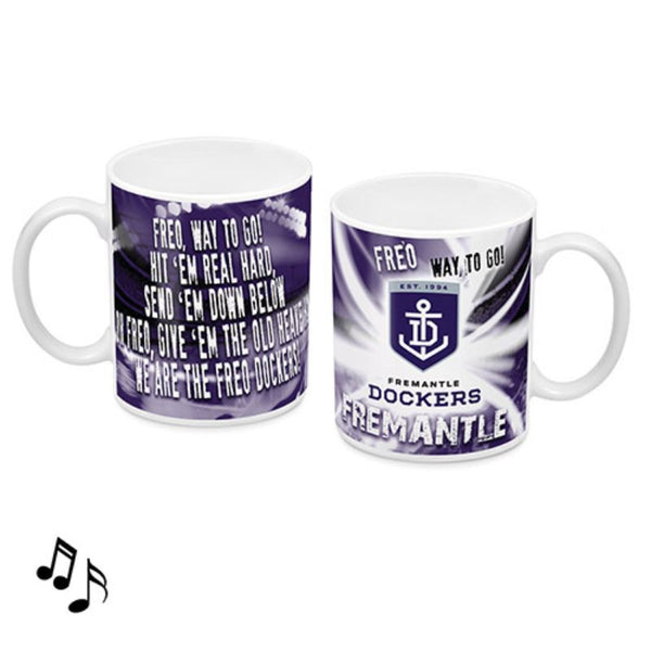 AFL MUSICAL MUG FREMANTLE DOCKERS