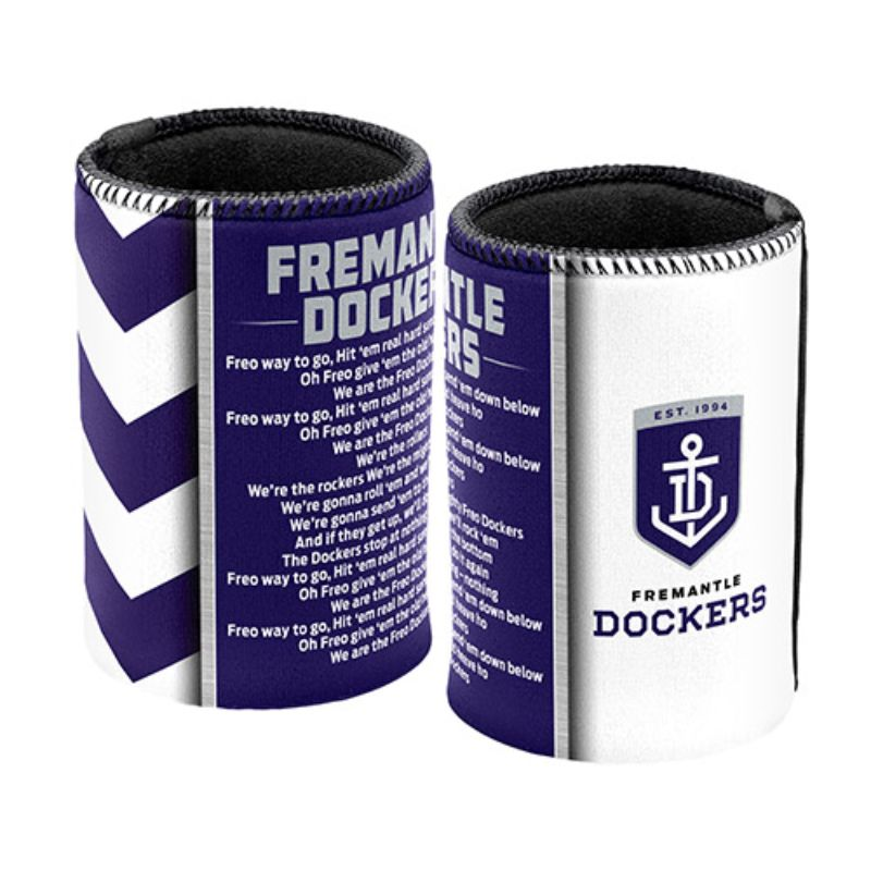 AFL SONG CAN COOLER FREMANTLE DOCKERS