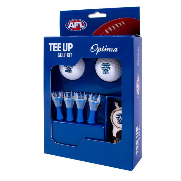 GEELONG GOLF 2BALL TEE UP KIT GIFT PACK