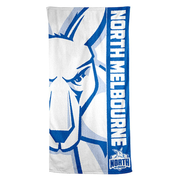 AFL BEACH TOWEL NORTH MELBOURNE KANGAROOS
