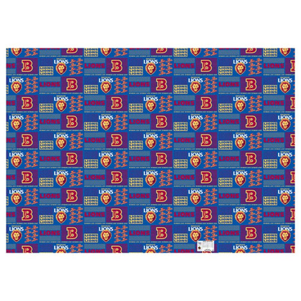 AFL WRAPPING PAPER BRISBANE LIONS