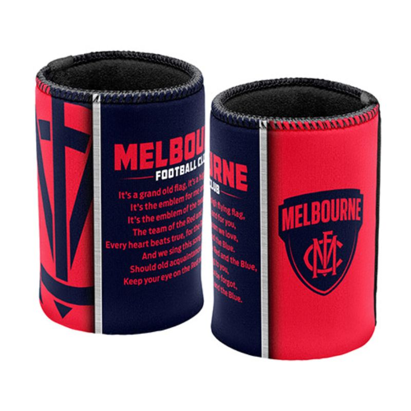AFL SONG CAN COOLER MELBOURNE DEMONS