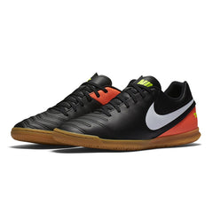 NIKE TIEMPOX RIO III IC BLACK WHITE HYPER ORANGE VOLT