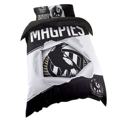 AFL QUILT COVER SINGLE COLLINGWOOD MAGPIES