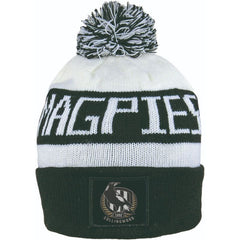 AFL BAR BEANIE COLLINGWOOD MAGPIES