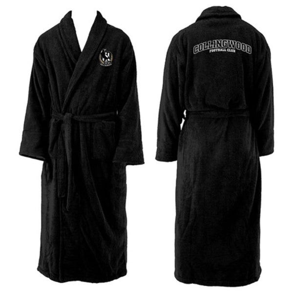 AFL MENS LONG SLEEVE ROBE COLLINGWOOD MAGPIES
