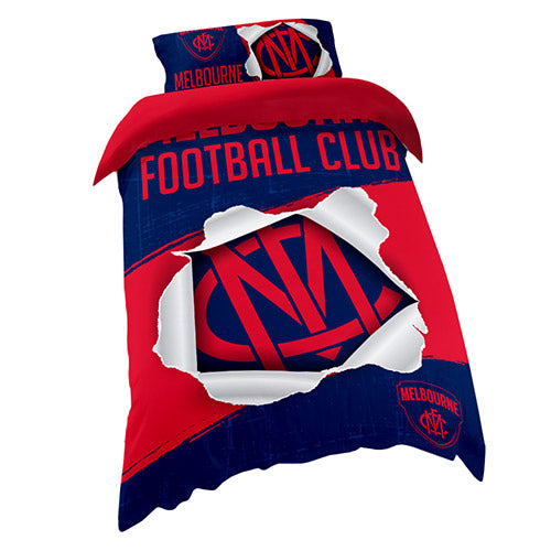 AFL QUILT COVER SINGLE MELBOURNE DEMONS