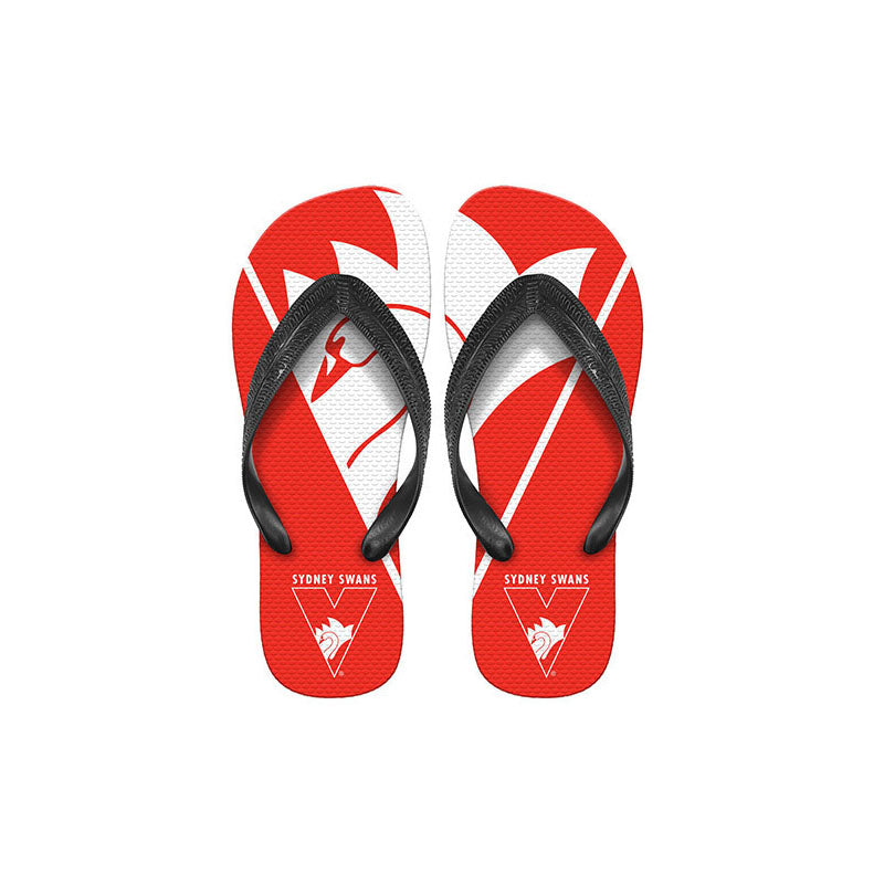 AFL THONGS SYDNEY SWANS