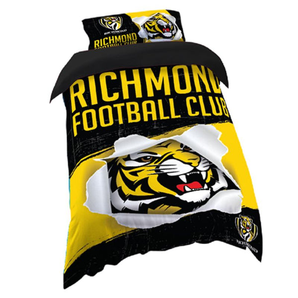 AFL QUILT COVER SINGLE RICHMOND TIGERS