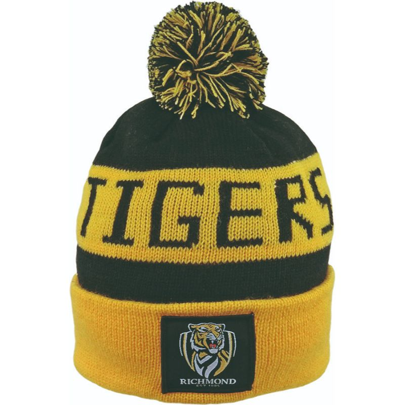 AFL BAR BEANIE RICHMOND TIGERS