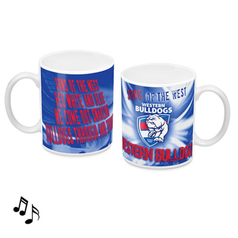 AFL MUSICAL MUG WESTERN BULLDOGS
