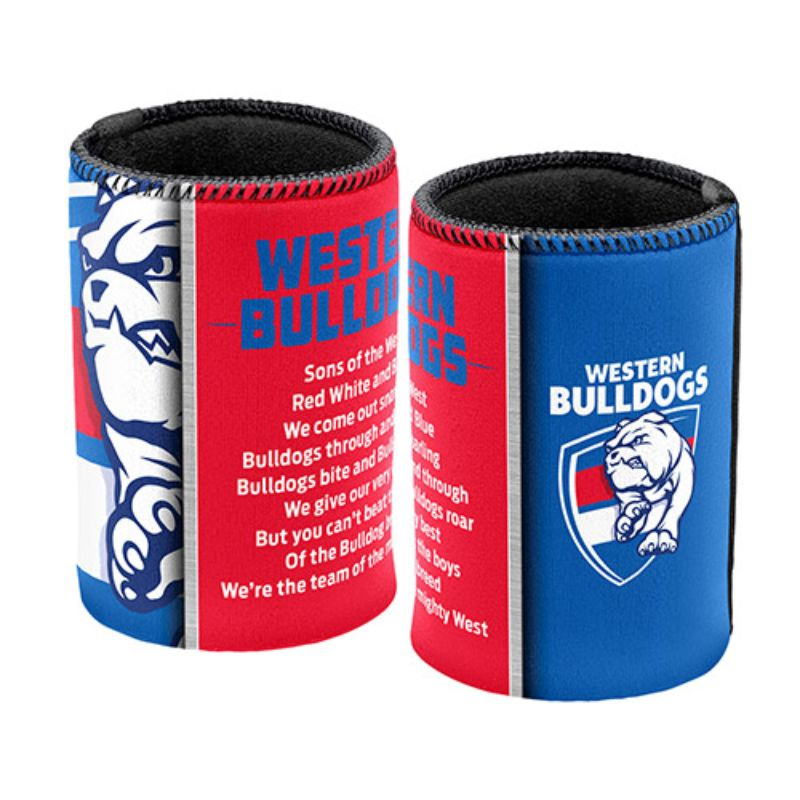 AFL SONG CAN COOLER WESTERN BULLDOGS