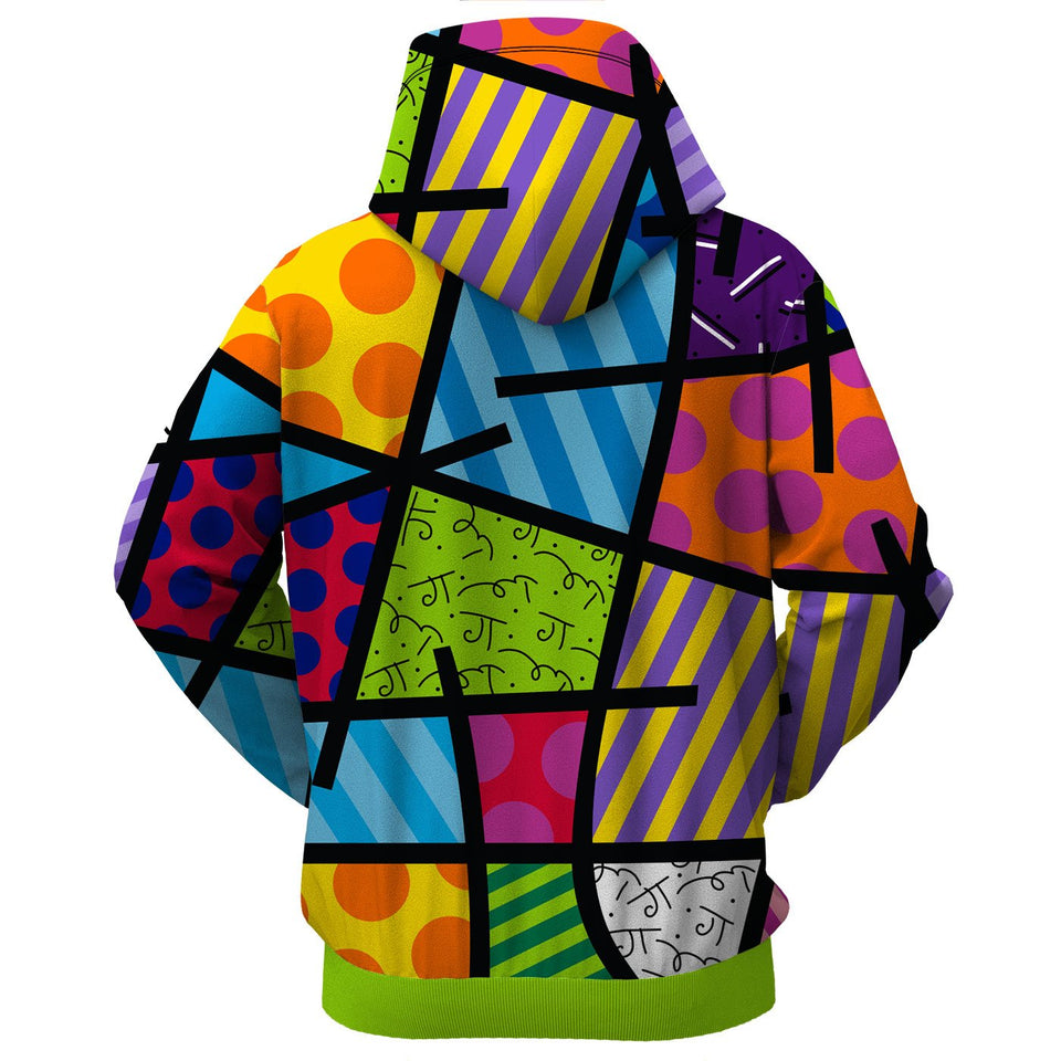 Color Landscape Hoodie By Britto