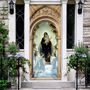 Mother Mary and Jesus Door Cover KTN010