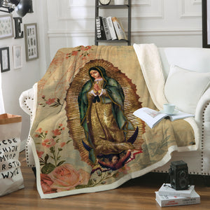 3D ALL OVER PRINTED Our Lady of Guadalupe Blanket 08